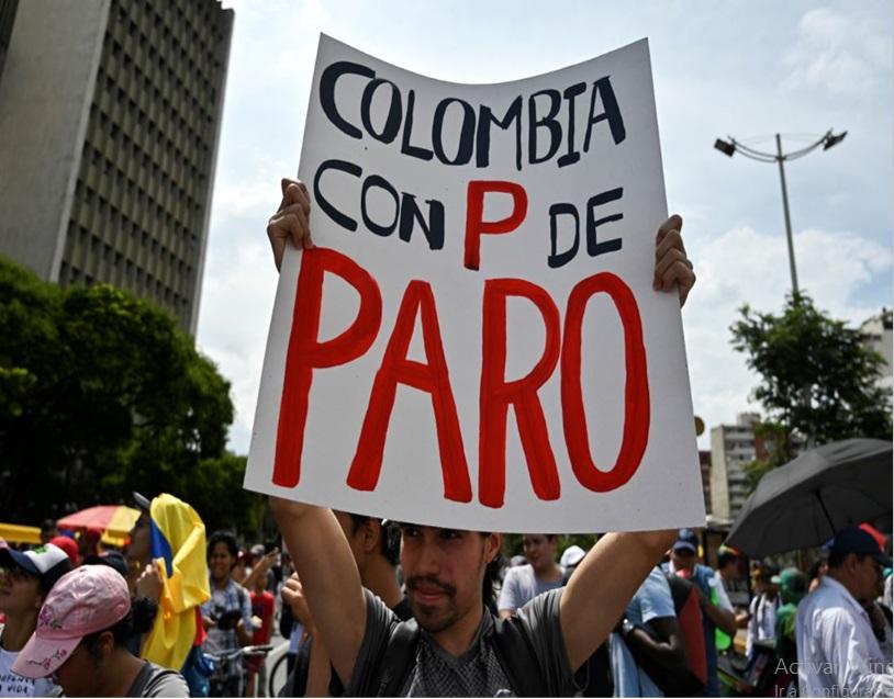 ¡EL PARO CONTINUA!, En Colombia