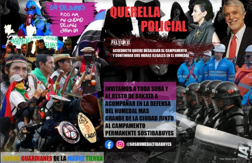 Querella Policial – Audiencia pública EAAB contra Campamento Jun. 4/21